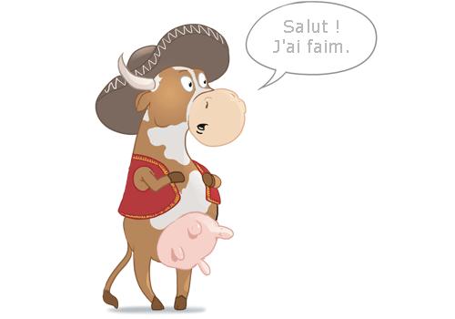Speak french like a spanish cow