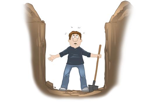 Wer Andern Eine Grube Gräbt Fällt Selbst Hinein